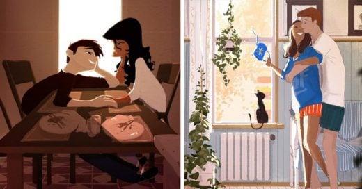 ilustraciones que demuestran cómo debería ser una relación de verdad