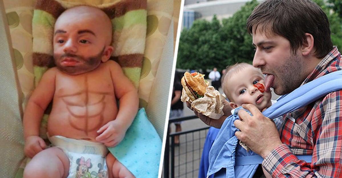 fotografías que revelan lo que pasa cuando los papás se quedan solos con los hijos