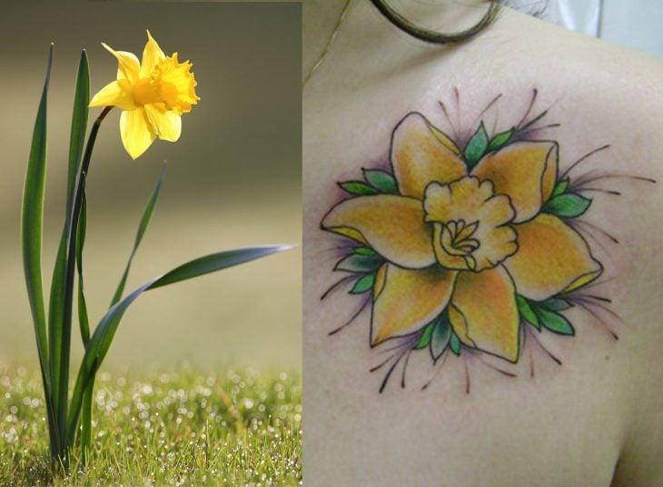 Narciso y tatuaje de narciso.