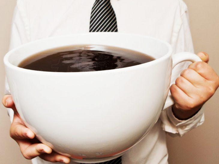 Gran taza de café.