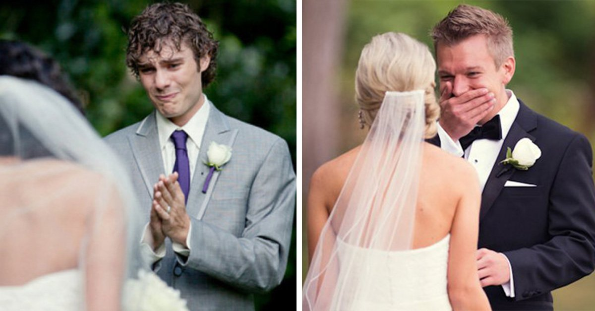 Novios que lloraron al ver a su novia caminar hacia el altar