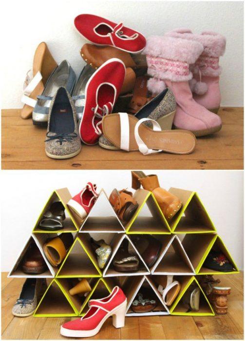 Idea para organizar zapatos.