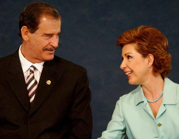 Vicente Fox y su esposa Martha Sahagún.