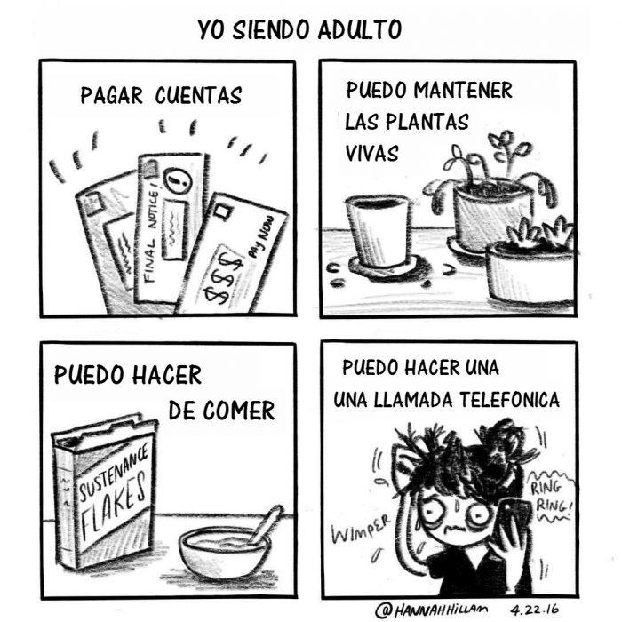 ilustracion de chica comic plantas y cereal