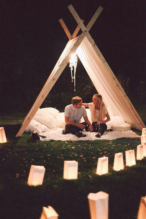 Velada romántica.