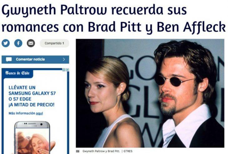noticia de periodico en linea con foto de mujer rubia y hombre con lentes