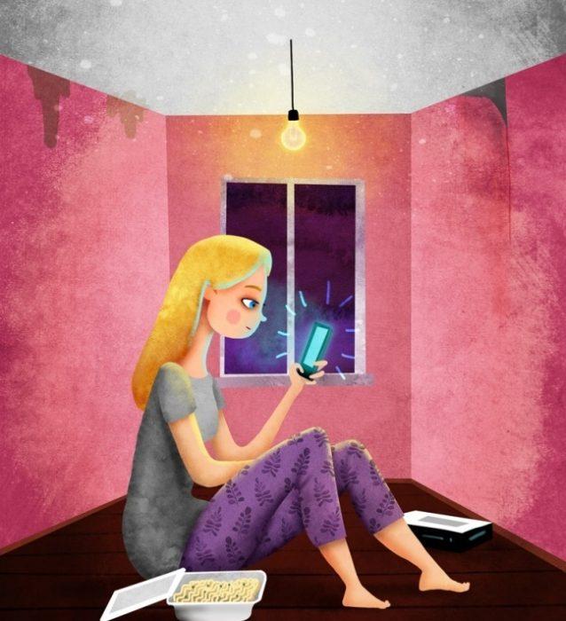 Ilustración 12 hábitos que impiden ser feliz