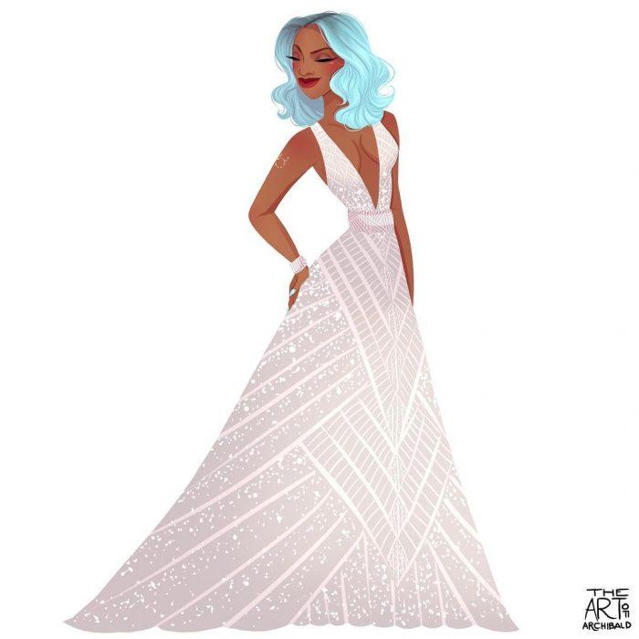 Ilustración de princesa aries.