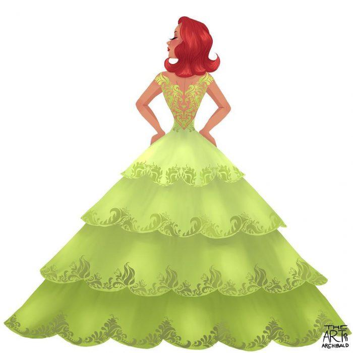 Ilustración de princesa leo.