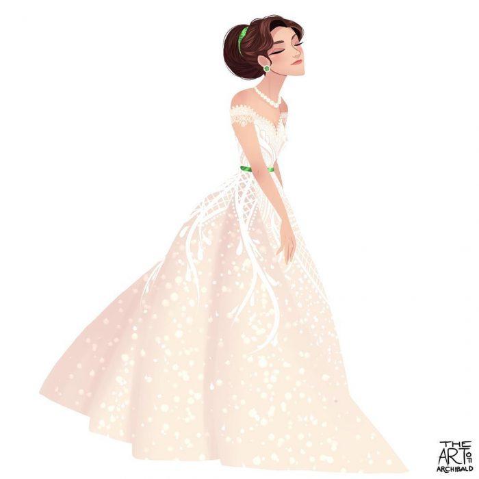 Ilustración de princesa géminis.