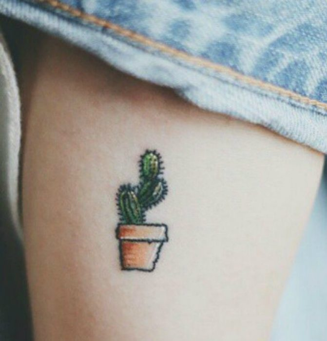 small tattoo nopal