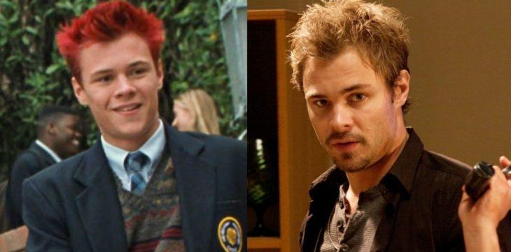 hombre de cabello corto rojo antes y después