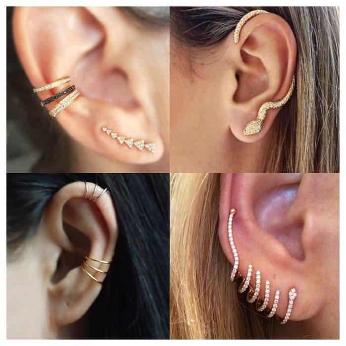 Fotos de oídos con Ear Cuffs.