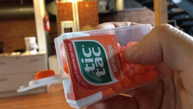 caja de Tic Tacs