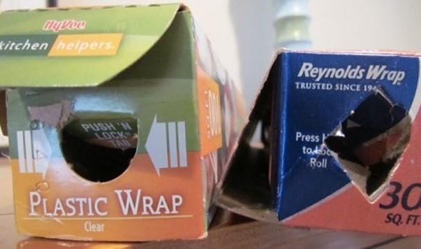 cajas de rollos aluminio y plástico