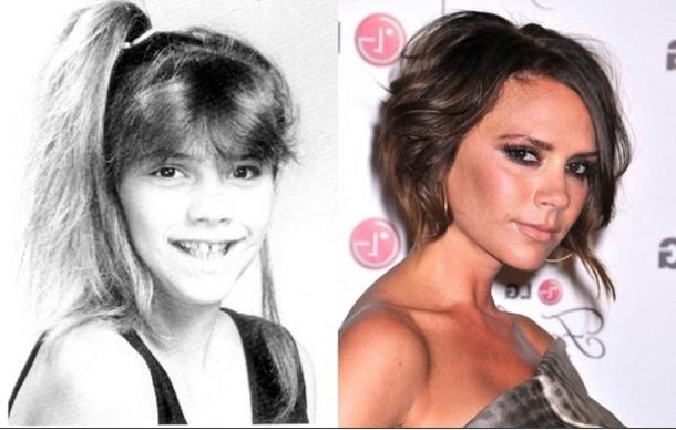 Victoria Beckham antes y después