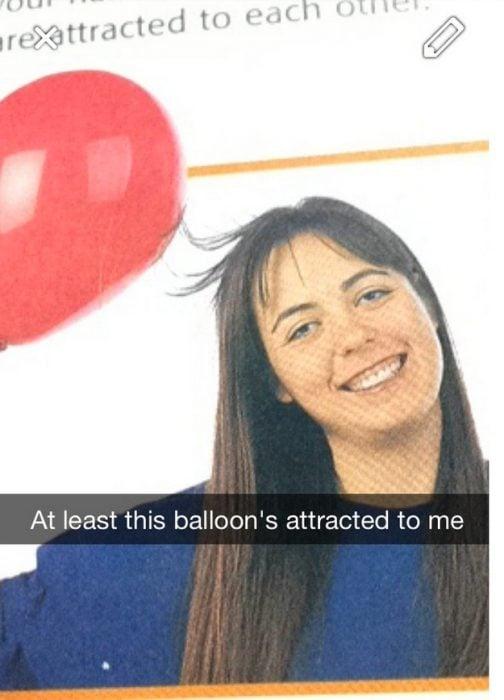 snap chica con estática de globo