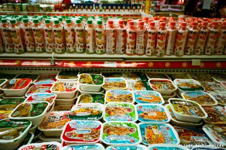 comida procesada de super mercado