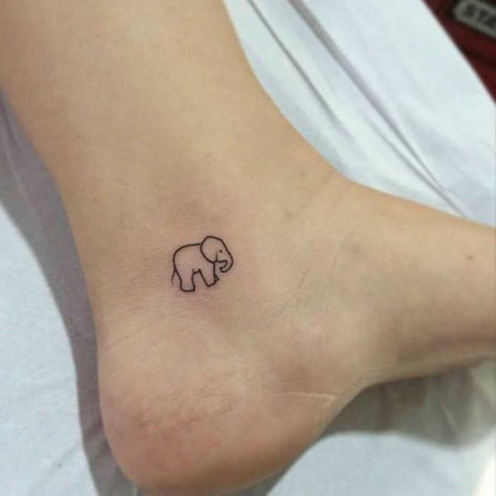 elephant tattoo foot