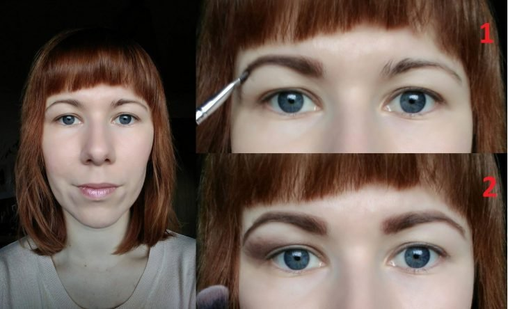 delineating girl eyebrows