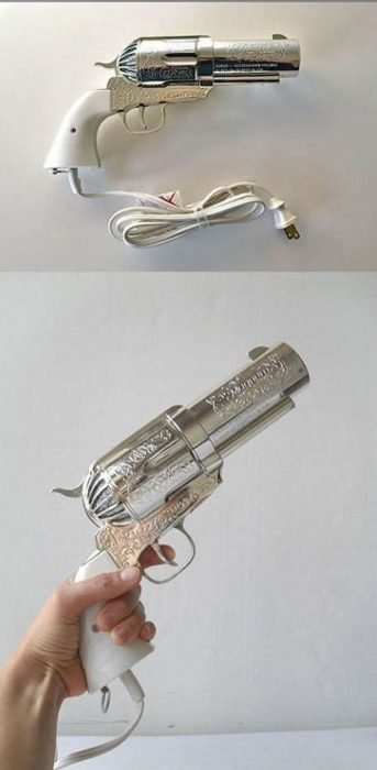 Secadora para cabello en forma de pistola
