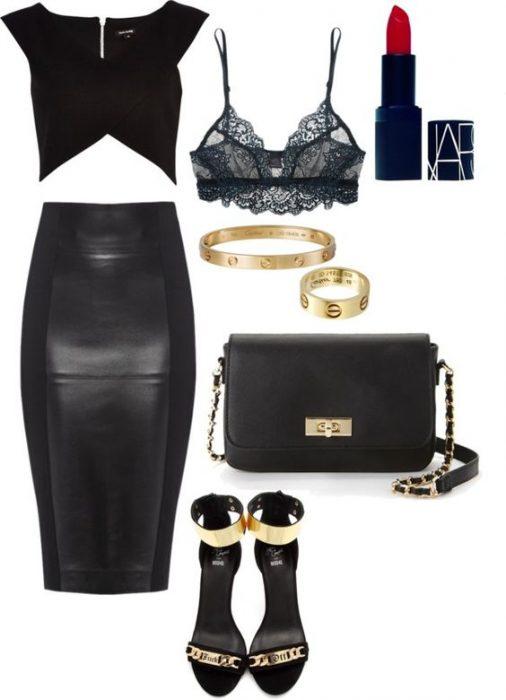 Outfit en color negro