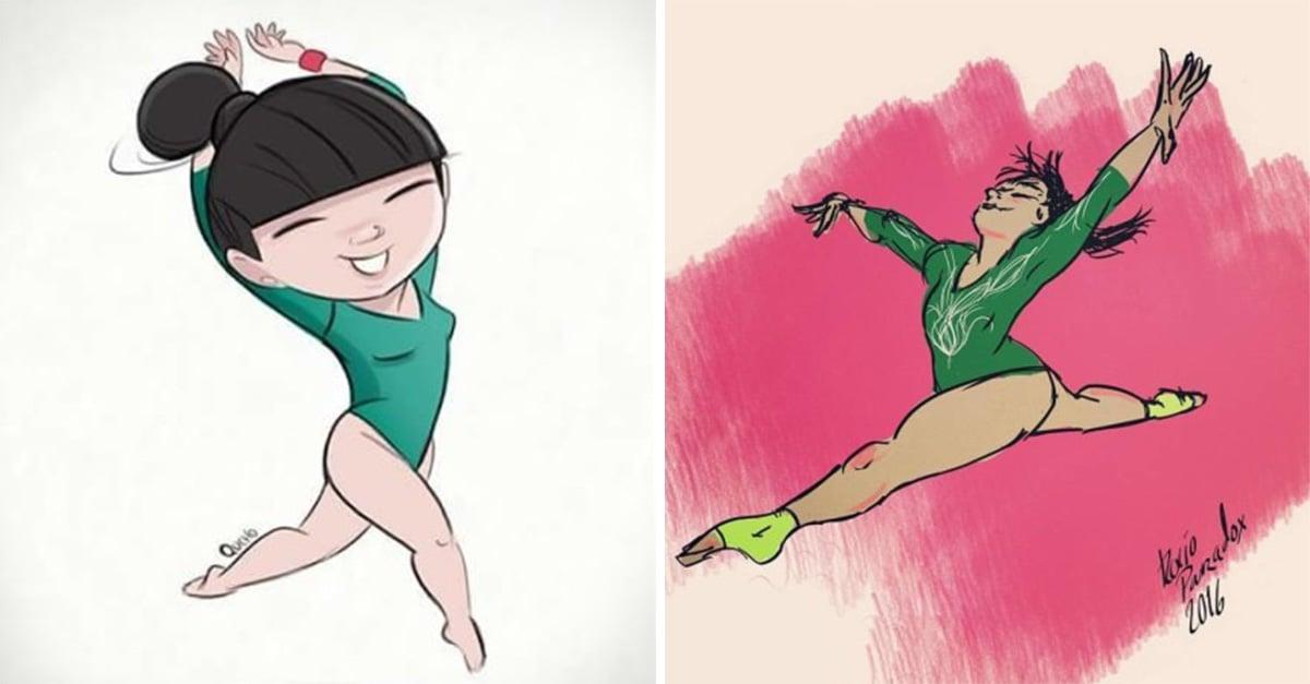Artistas le rinden homenaje a la belleza y al talento de la gimnasta mexicana Alexa Moreno