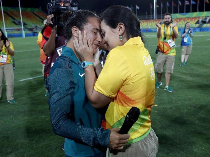 Isadora y su novia en los Juegos Olímpicos