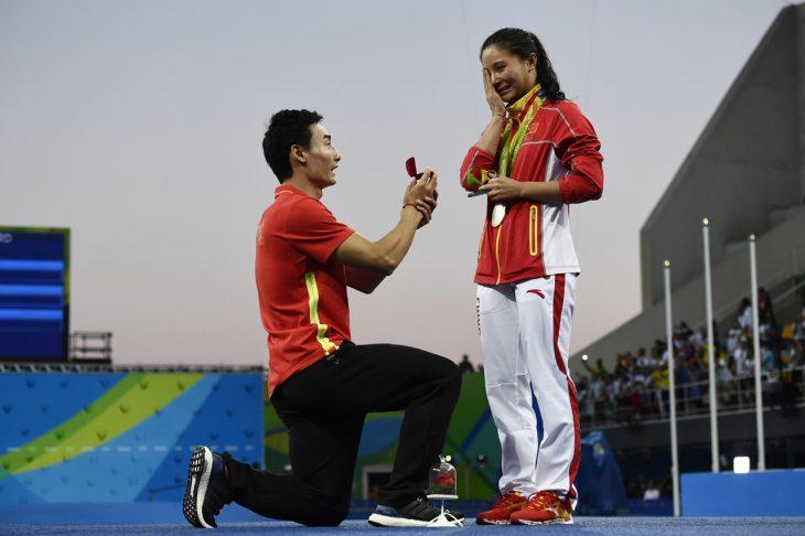 Propuesta de matrimonio de clavadistas en Río 2016