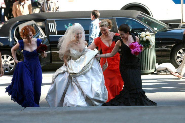 Escena de la película sex and the city boda de Carrie