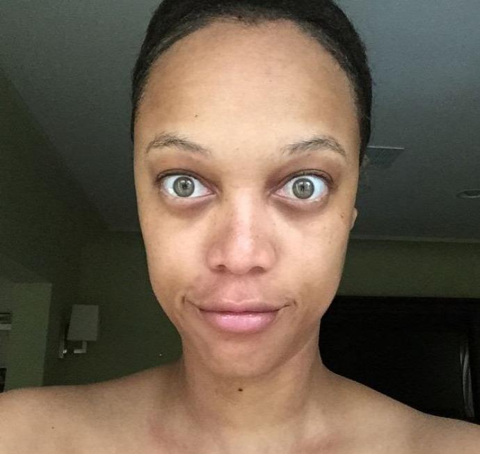 Tyra Banks sin maquillaje