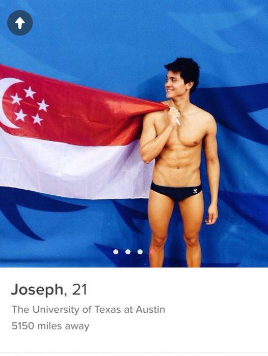 Tinder de Joseph Schooling