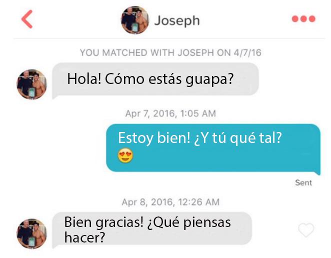 Conversación de joseph schooling en Tinder