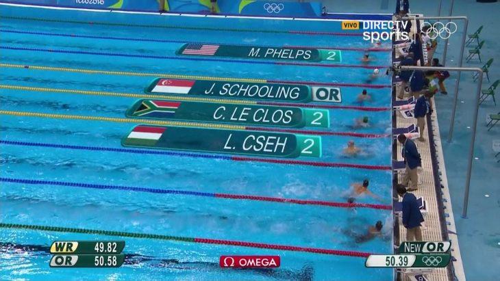 Final de mariposa 100 metros Río 2016