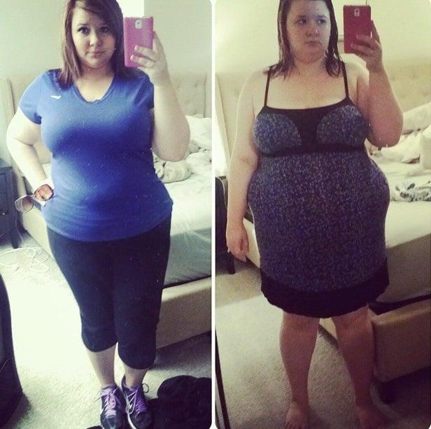Christine Carter quien pesaba 125 kilos y después bajó radicalmente de peso