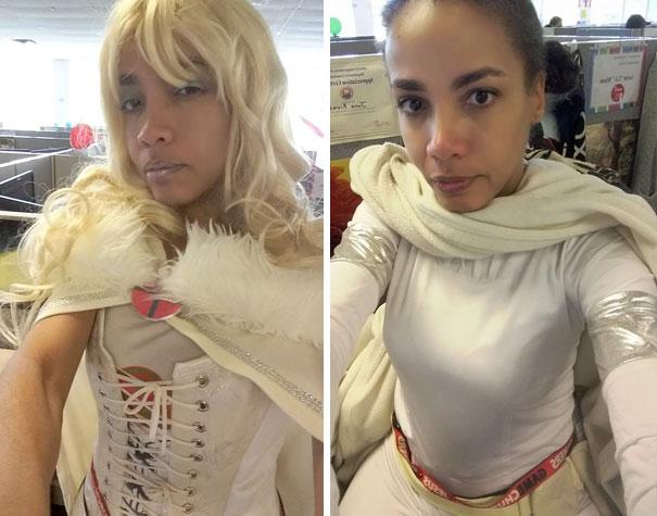 Mujer vestida con un Cosplay de star wars