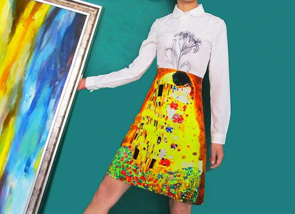 falda con pintura de klimt