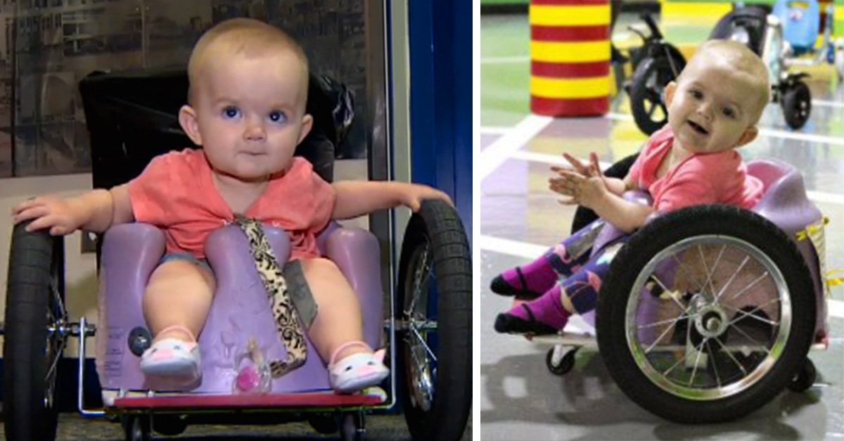 Madre construye silla de ruedas para su bebé usando Pinterest