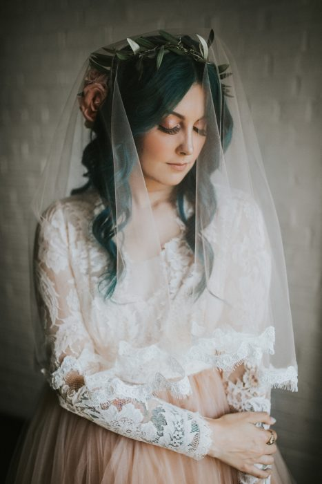 Chica el día de su boda