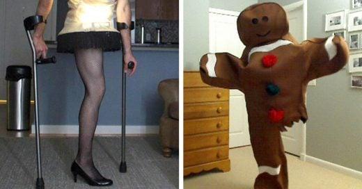 Este chico sin una pierna crea divertidos disfraces