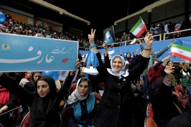 mujeres iraníes en partido