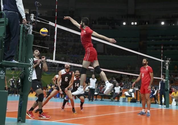 juego de voleibol irán contra egipto