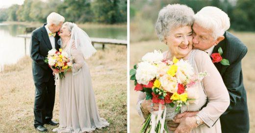 La sesión fotográfica de estos abuelos te hará creer en el amor.
