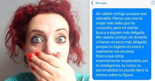 Mujer responde increíblemente a su cita Tinder por llamarla gorda