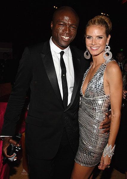 Modelo Heidi Klum junto a su ex esposo Seal