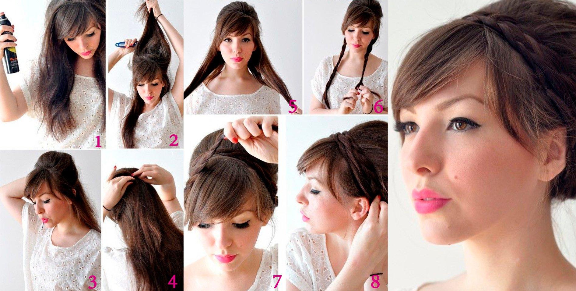 Peinados Que Te Ayudaran A Realzar Aun Mas Tu Flequillo - Peinados-flequillo-recogido