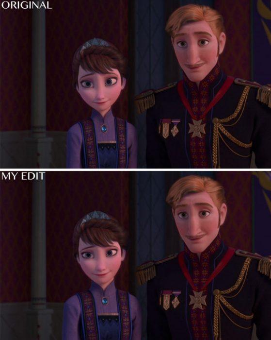 Rey y reina de Frozen, Original y edición