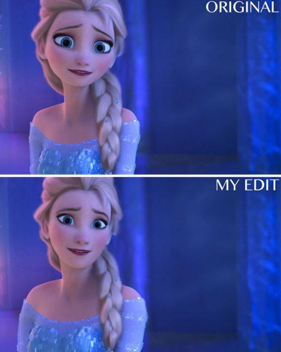 Elsa de Frozen, Original y edición