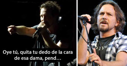Eddie Vedder se convierte en héroe al evitar la agresión contra una mujer en pleno concierto