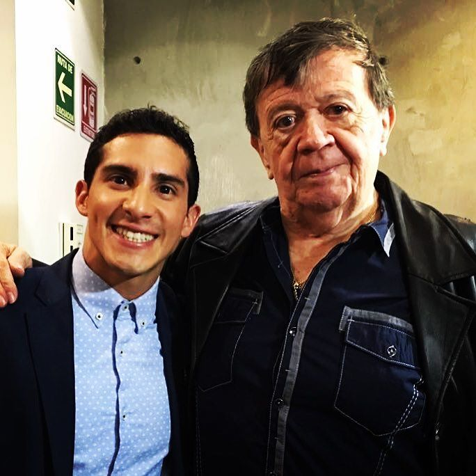 Rommel Pacheco con Chabelo